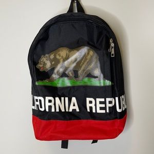 California Republic graphic black/red backpack